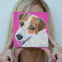 Dog custom portrait dog painting dog portrait pop art pet portrait custom pet portrait dog art modern dog portrait