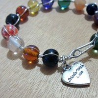 Signature Bracelet -Wire Wrapped (Multi-Color) from Pelhuaz by Red