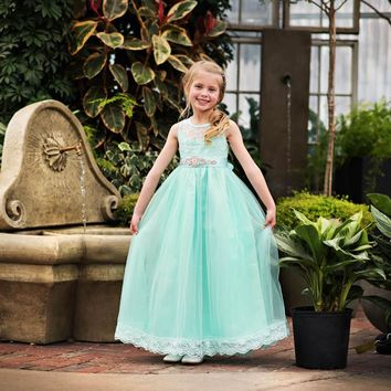 Scarlett Dress & Sash Mint Sweetheart Neckline Tank Tulle Dress - Extended Sizes!