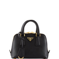 Saffiano Mini Promenade Bag, Black (Nero) - Prada