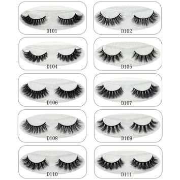 Lash 3D Mink Lashes Eyelashes Thick Natural False Eyelashes Handmade Fake Eye Lashes Extension for Beauty Makeup 27 styles