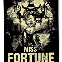 Miss Fortune - Vintage Comic Line Art Style Beach Towel for Sale by Dusan Naumovski