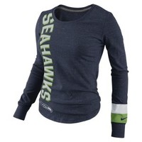 Nike Store. Nike Go Long Long-Sleeve (NFL Seahawks) Women's Top