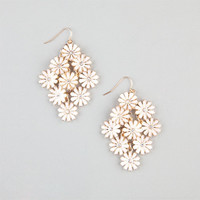 Full Tilt Daisy Chandelier Earrings White One Size For Women 24030715001