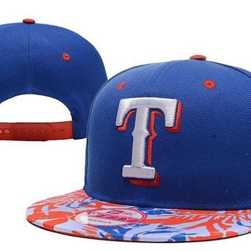 LMFON Texas Rangers New Era 9FIFTY MLB Baseball Hat Blue