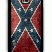 Samsung Galaxy S5 Case - Rubber (TPU) Cover with Confederate Rebel Flag Rubber Case Design
