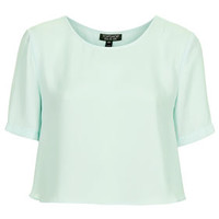 Cropped Split Side Tee - Mint