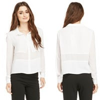 Chiffon French Cuff Blouse