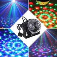 Mini RGB LED Party Disco Club DJ Light Crystal Magic Ball Effect Stage Lighting (Color: Black) [7639038598]