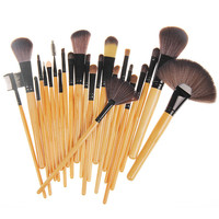 Professional 24 Makeup Brush Set (Beige)