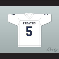 Rakeem Boyd 5 Independence Community College Pirates White Football Jersey