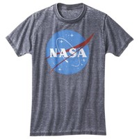 Men's NASA Oil Wash Graphic Tee - Black Basin
