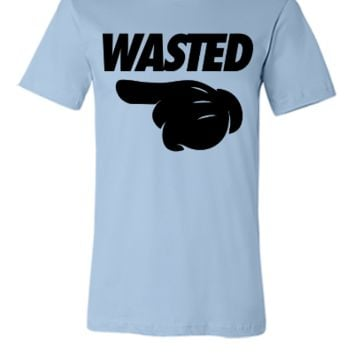 Wasted Pointing Left - Unisex T-shirt