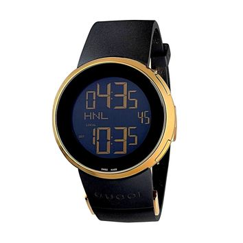 GUCCI iGucci Series Black Rubber Digital Men's Watch