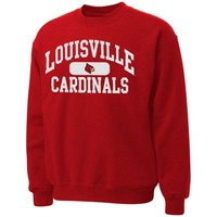 Louisville Cardinals Piller Crew Neck Sweatshirt - Red