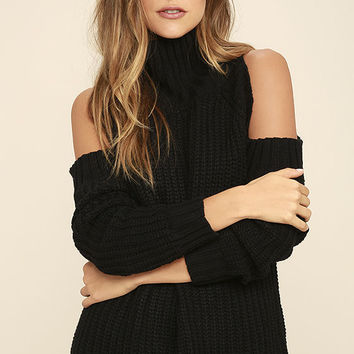 She's Got a Way Black Turtleneck Sweater