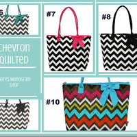 Chevron Quilted Shoulder Bag , Travel Duffel, personalized Weekender Bag , Travel Duffle bag