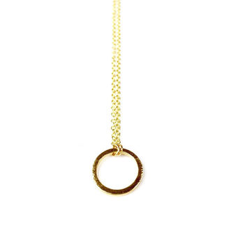Gold Circle Necklace - Infinity Necklace, Geometric Necklace, Geometric Jewelry, Geometric Jewellery, Circle Jewelry