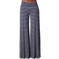 Stretchy Striped Palazzo Pants