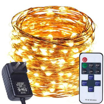 LED Remote String Fairy Lights Outdoor Waterproof For Garden Decorations