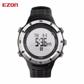 EZON Men Digital Watches Outdoor Watch Clock Weather Altimeter Barometer Thermometer Compass Altitude Climbing Hiking Hours