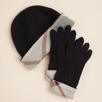 Burberry Unisex Knit Hat & Glove Box Set