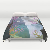 TOTORO Duvet Cover by Youcoucou