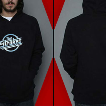 The Strokes Hoodies Hoodie Sweatshirt Sweater Shirt black white and gray Unisex size
