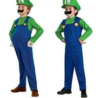 Super Mario Bros Youth Luigi Costume