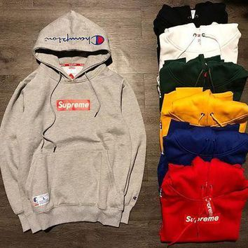 PEAP1 Supreme X Champion Unisex Top Sweater Pullover Hoodie