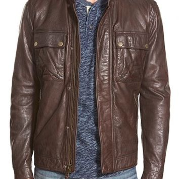 Men's Lucky Brand 'Ace' Leather Jacket,