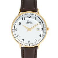 Limit Brown Leather Look Strap Watch 5456.01