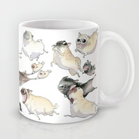 Pugs on the Run! Mug by InkPug | Society6