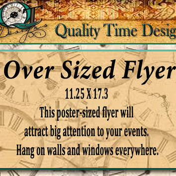 Custom Over Sized Poster Flyer Personalize with your logo, text, and photos, Full Color one side Business Flyer Bulletin Boards
