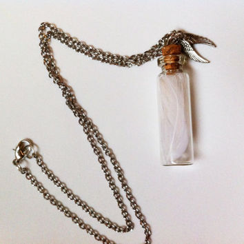 Castiel's Angel Feathers Necklace (Supernatural Inspired)