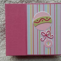 6x6 Baby Girl Premade Scrapbook Album