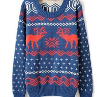 Double-thick snowflakes deer sweater d11 from Fashion Accessories Store