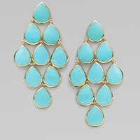 Ippolita - Turquoise & 18K Yellow Gold Cascade Earrings - Saks.com