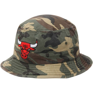 Chicago Bulls adidas Camo Bucket Hat - Green