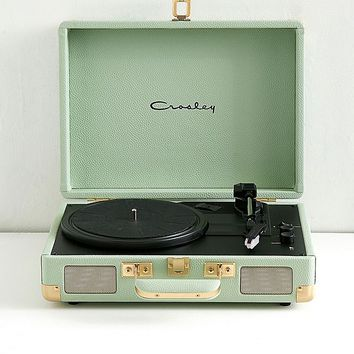 Crosley Cruiser Mint and Gold Bluetooth Vinyl Record Player | Urban Outfitters