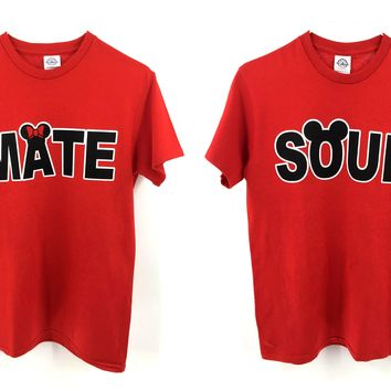 SOUL and MATE Couple Matching Love T-Shirts Set