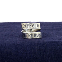 Expecto Patronum - Harry Potter - Adjustable Aluminum Wrap Ring B