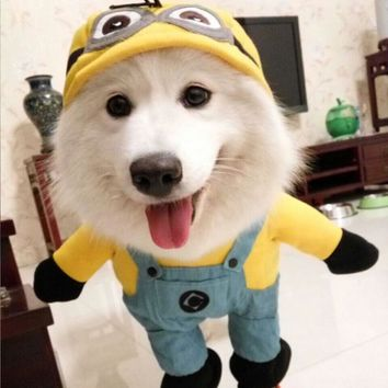 Funny Halloween Minion Costume For Dogs