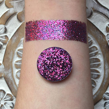 Holographic valentine pressed glitter eyeshadow, 26mm magnetic pan or jar