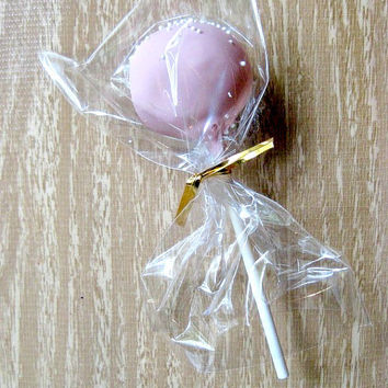 Cellophane Cake Pop/Treat Bags - 35 Clear Bags + Twist Ties