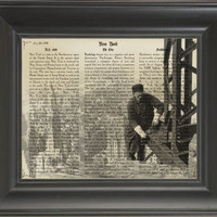 OLD NEW YORK.  Printed on history of New York page  -  250Gram paper.