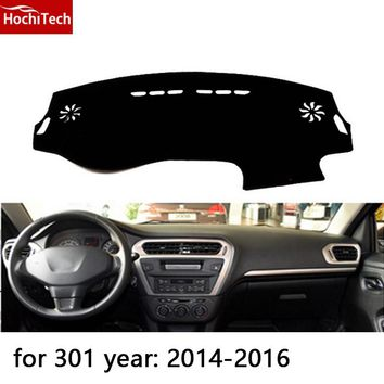 HochiTech for Peugeot 2008 301 508 3008 dashboard mat Protective pad Shade Cushion Photophobism Pad car styling accessories