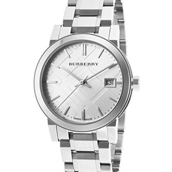 DCCK Burberry Women's BU9100 Large Check Stainless Steel Bracelet Watch