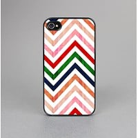 The Vibrant Fall Colored Chevron Pattern Skin-Sert Case for the Apple iPhone 4-4s