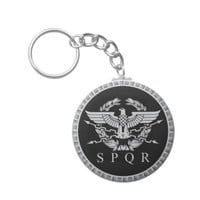 The Roman Empire Emblem Button Keychain. Keychain
